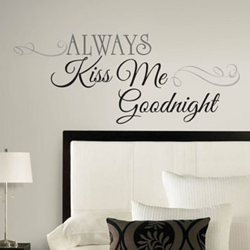 Always Kiss Me Goodnight Peel & Stick Wall Decal
