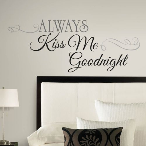 Always Kiss Me Goodnight Peel and Stick Wall Decal