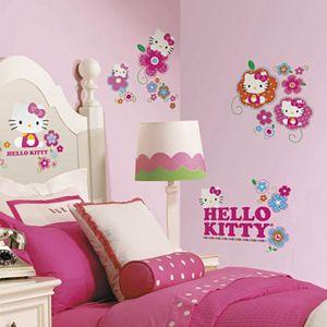 Hello Kitty Flower Peel & Stick Wall Decal