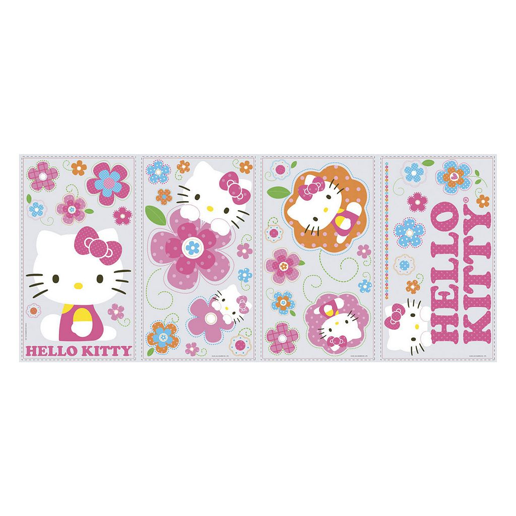 Hello Kitty Flower Peel and Stick Wall Decal