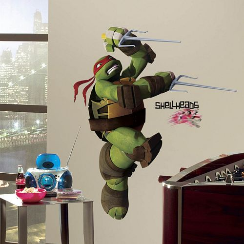 Teenage Mutant Ninja Turtles Raphael Peel & Stick Wall Decal