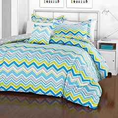 iTEEN Annmarie Chevron Reversible Comforter Set by