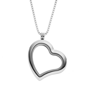 Blue La Rue Stainless Steel 1.2-in. Heart Locket