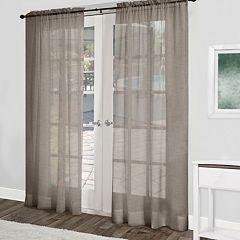 Exclusive Home Belgian Sheer Window Curtain Pair - 54'' x 84''