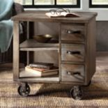 Madison Park Cirque Wheeled End Table