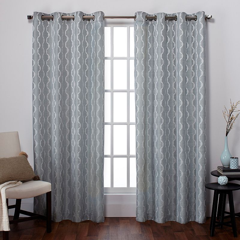 Exclusive Home Baroque Jacquard Curtains - 54'' x 84''