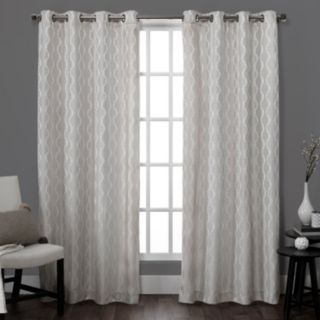 Exclusive Home Baroque Jacquard Window Curtains - 54'' x 84''