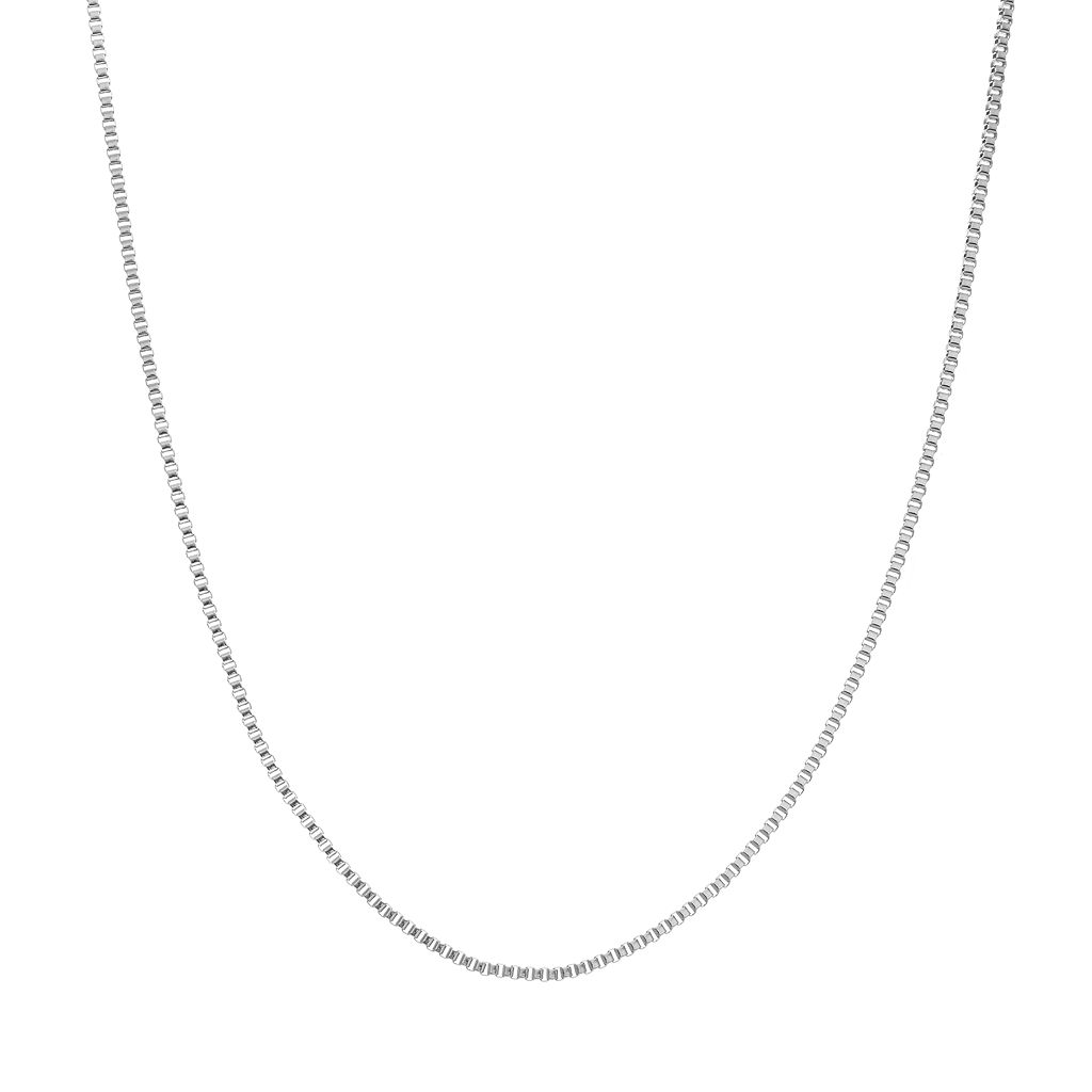 Blue La Rue Stainless Steel Box Chain Necklace - 18 in.
