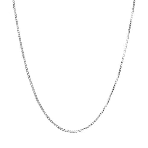 Blue La Rue Stainless Steel Box Chain Necklace - 24 in.