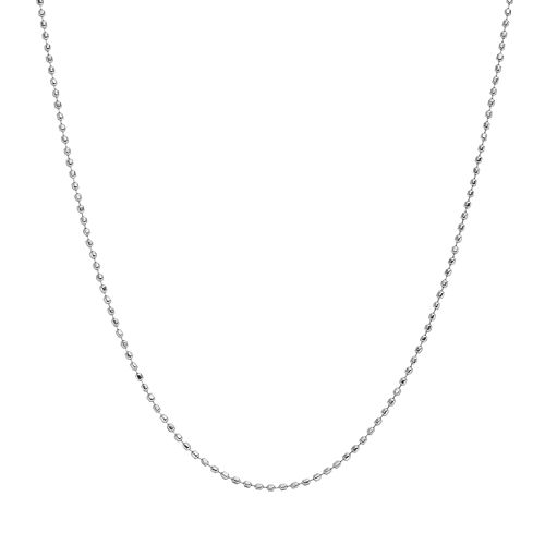 Blue La Rue Stainless Steel Bead Chain Necklace