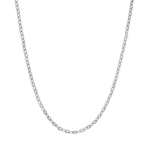 Blue La Rue Stainless Steel Rolo Chain Necklace - 18 in.