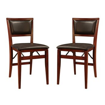 linon keira 2 pack folding chair set