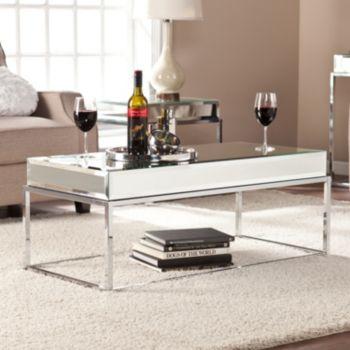 Southern Enterprises Lucinda Mirrored Coffee Table