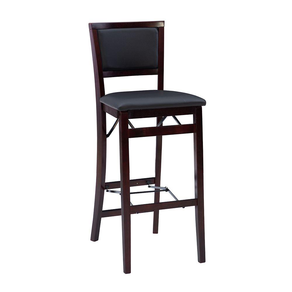 Linon Keira Folding Bar Chair