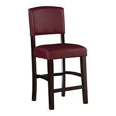 Linon Monaco Red Counter Stool