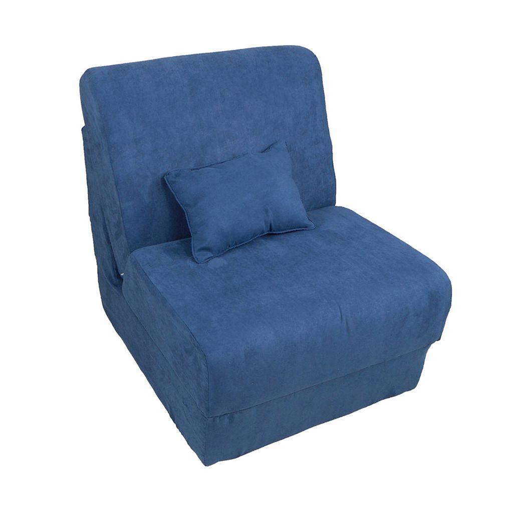 Fun Furnishings Microsuede Sleeper Chair - Teen