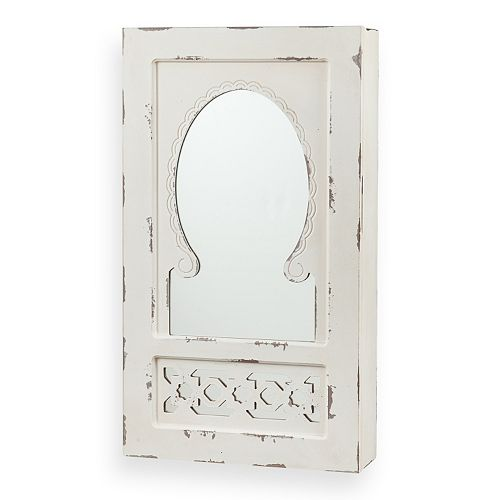 Southern Enterprises Ivana Mirrored Wall-Mount Jewelry Armoire