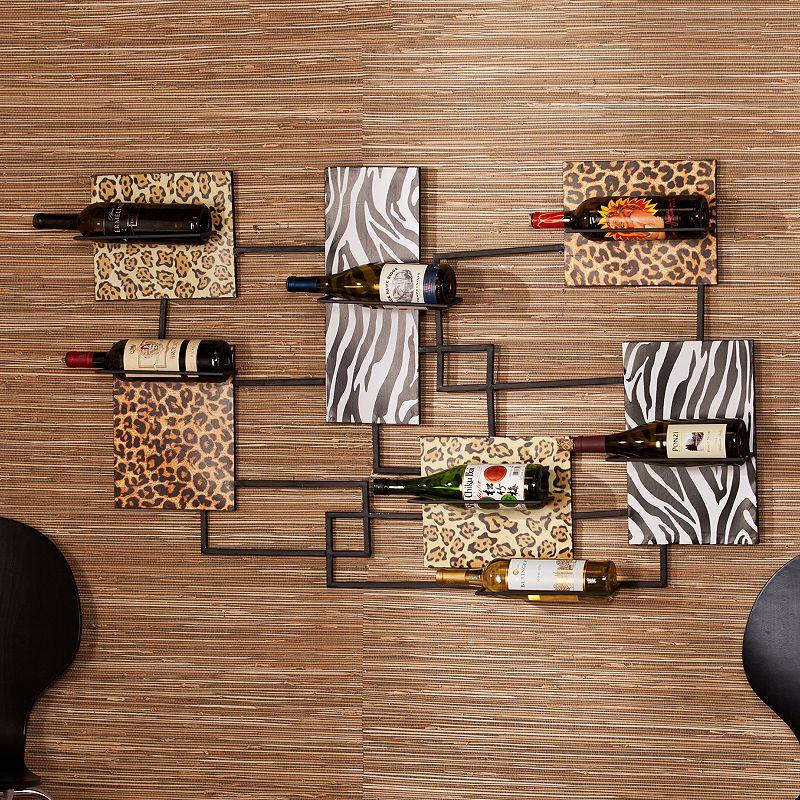 Southern Enterprises 7-Bottle Savannah Metal Wall Wine Rack