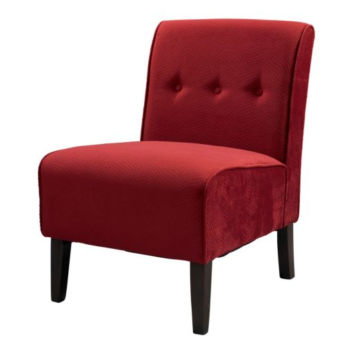 Linon Coco Red Accent Chair