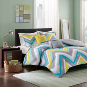 Intelligent Design Ariel Chevron Reversible Comforter Set