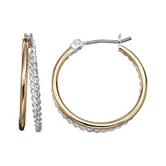 Napier Twist Double Hoop Earrings