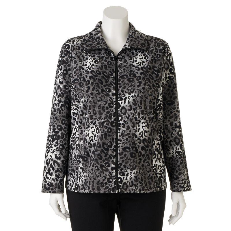 Cathy Daniels Cheetah Jacket - Women's Plus Size