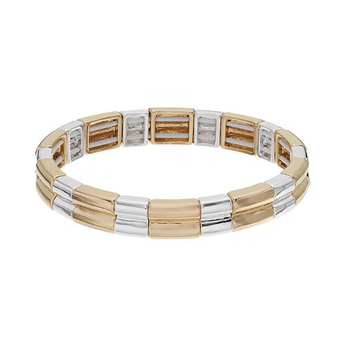 Napier Beveled Stretch Bracelet