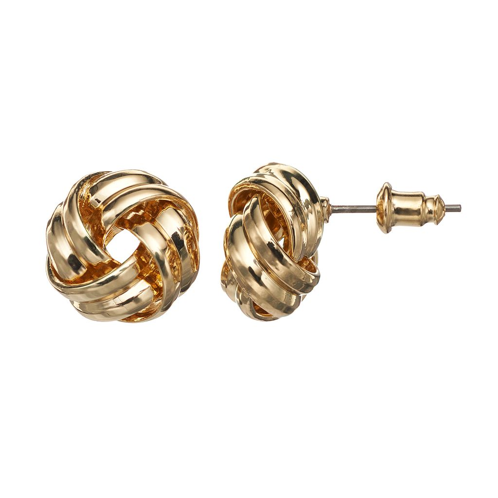 Napier Love Knot Stud Earrings