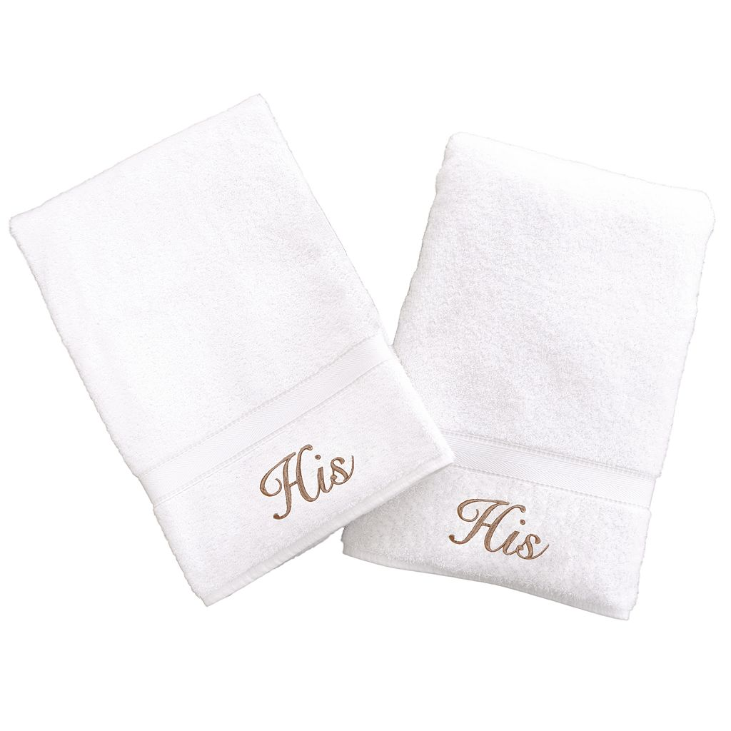 Linum Home Textiles Terry 2-pk. ''His'' & ''His'' Hand Towels