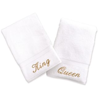 Linum Home Textiles Terry 2-pk. ''King'' and ''Queen'' Hand Towels