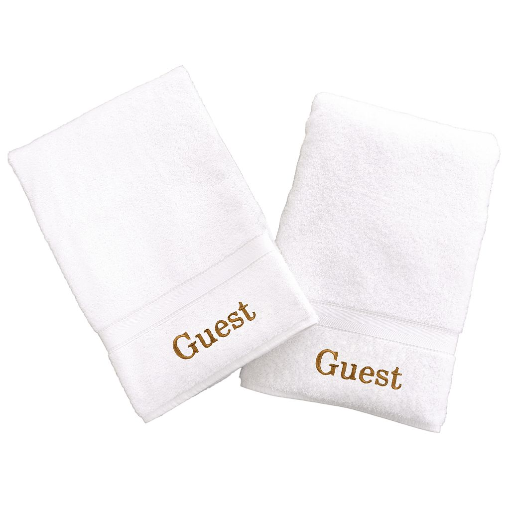 Linum Home Textiles Terry 2-pk. ''Guest'' Hand Towels