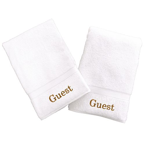 Linum Home Textiles Terry 2-pk. ''Guest'' Hand Towels