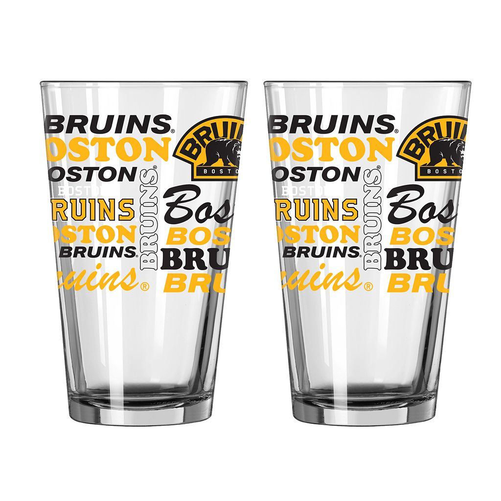 Boelter Brands Boston Bruins 2-Pack Pint Glass Set