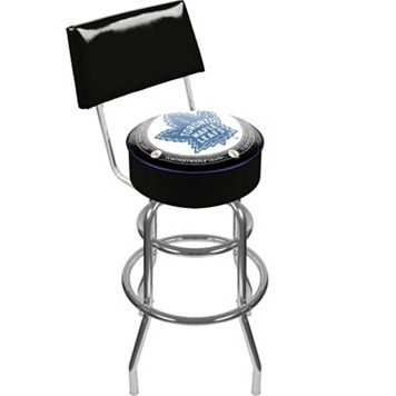 Toronto Maple Leafs Padded Swivel Bar Stool with Back