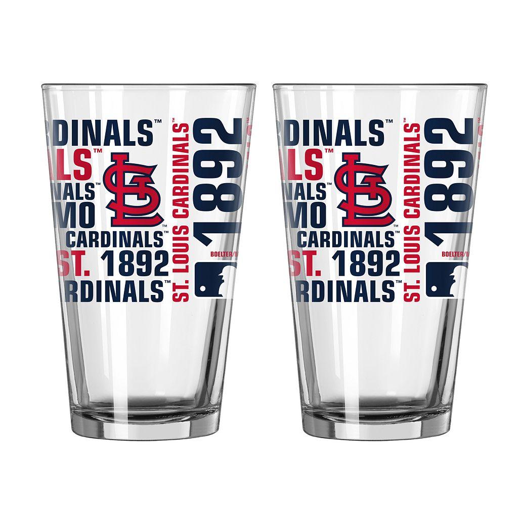 Boelter Brands St. Louis Cardinals 2-Pack Pint Glass Set