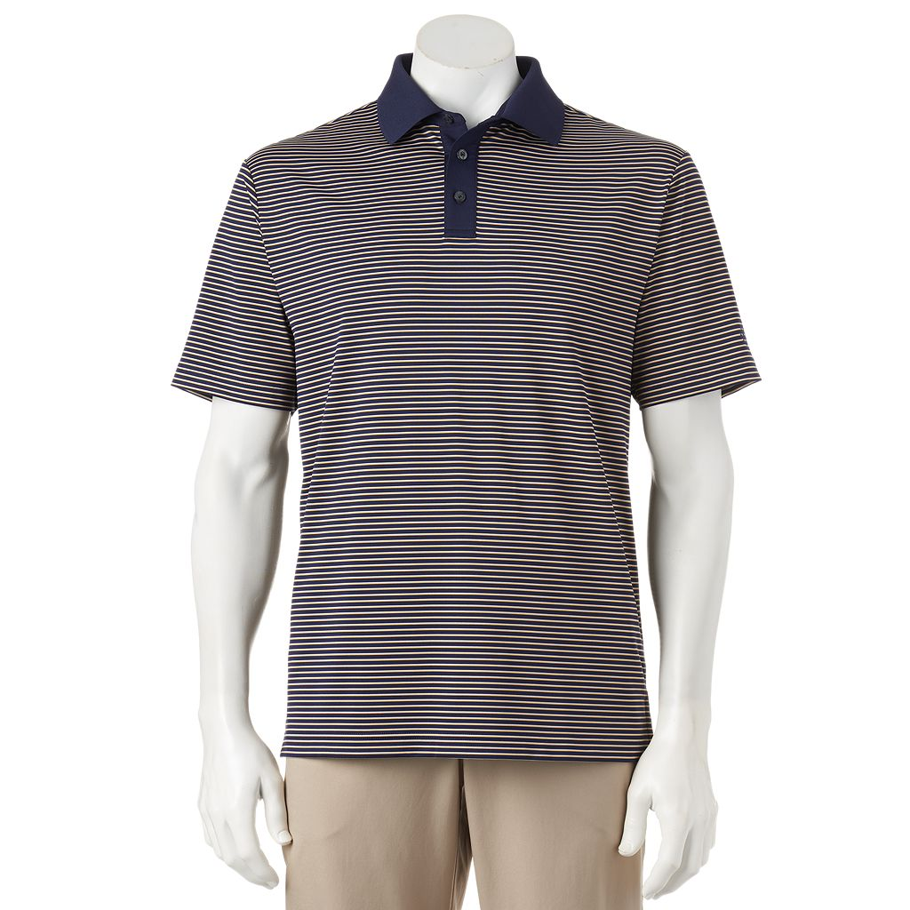 Men's Ben Hogan Fine Line Striped Performance Golf Polo