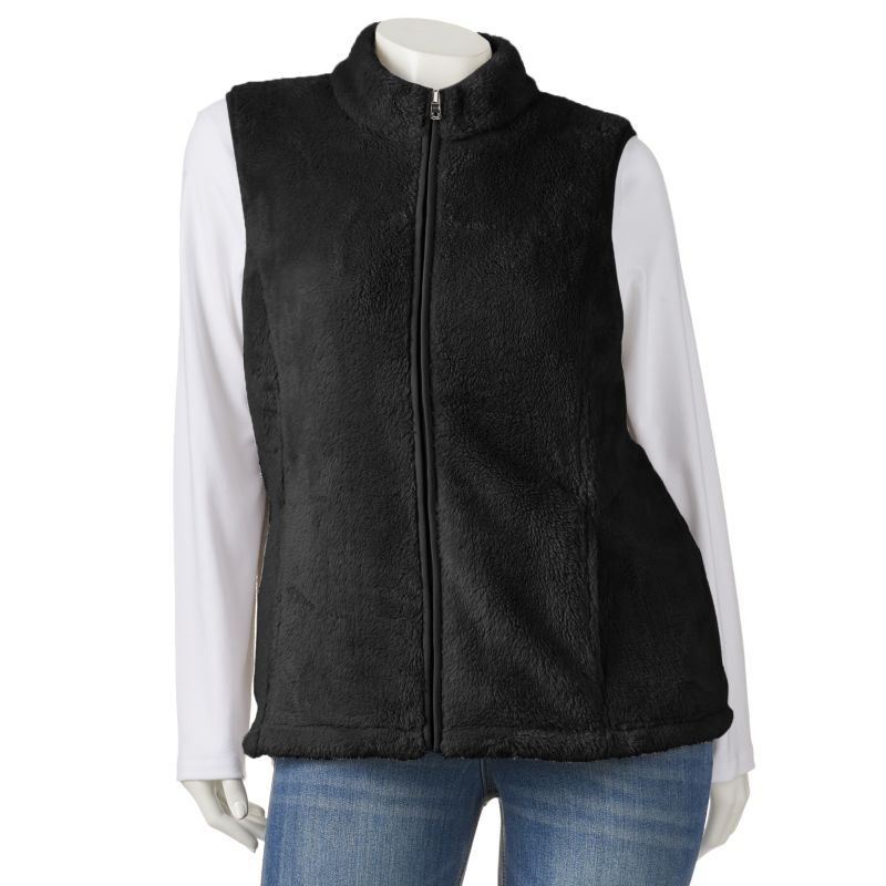 Croft & Barrow Faux-Fur Vest - Women's Plus Size