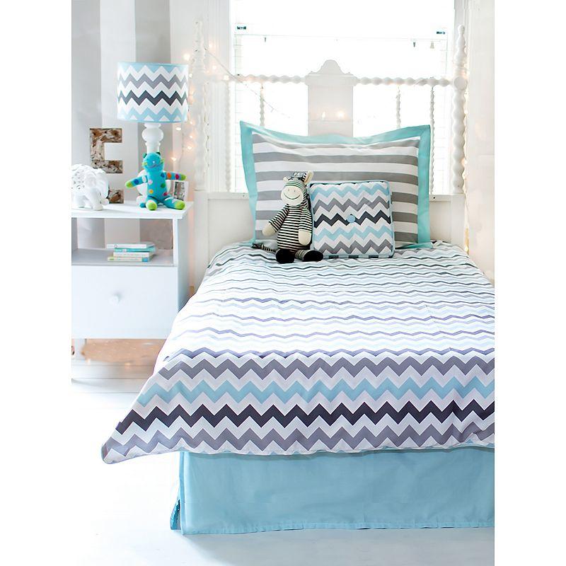 My Baby Sam Chevron 4-pc. Full Bedding Set, Turquoise/Blue (Turq/Aqua)