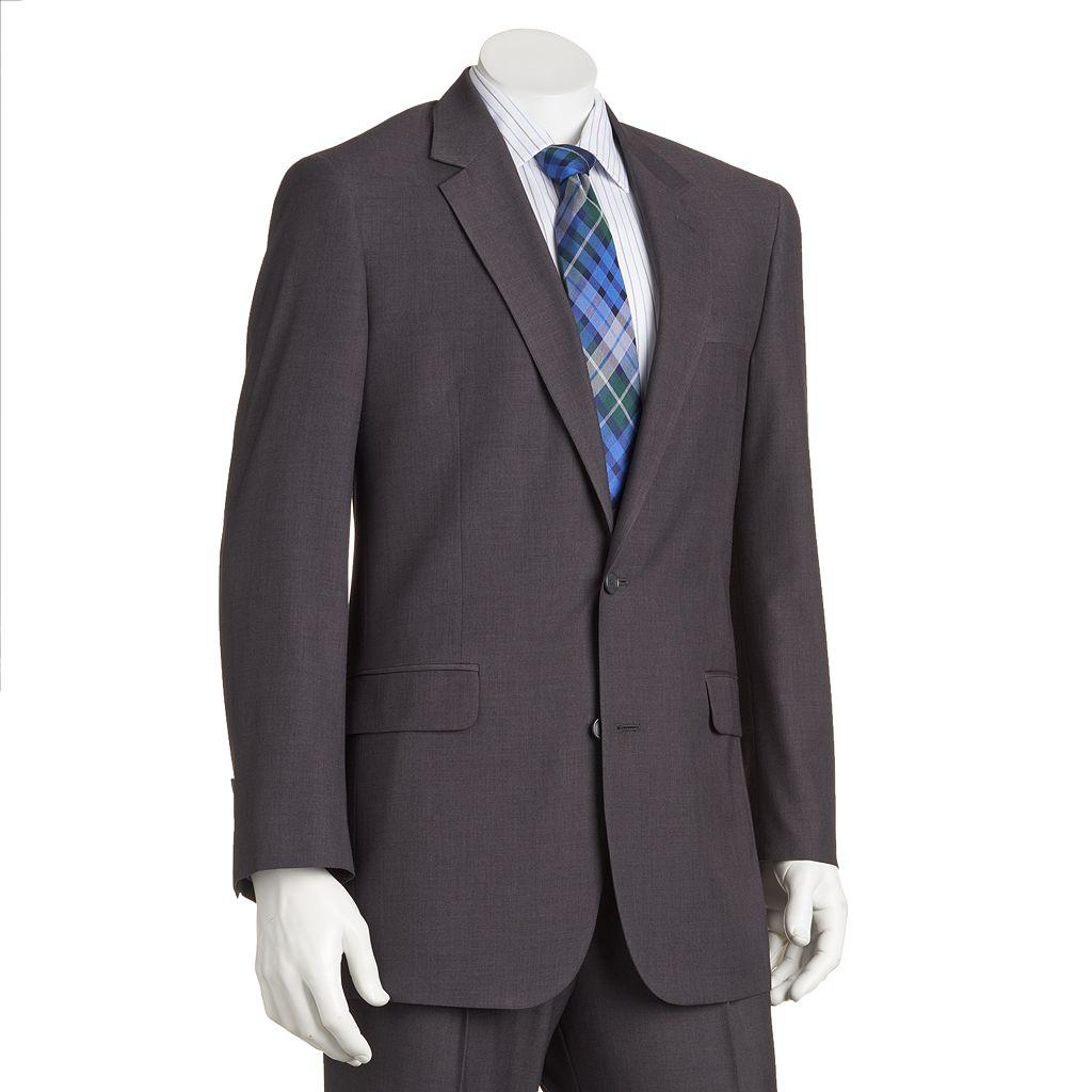 Big & Tall Croft & Barrow® Classic-Fit Gray Twill Suit Jacket