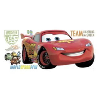 Disney Cars Lightning McQueen Peel and Stick Wall Decal