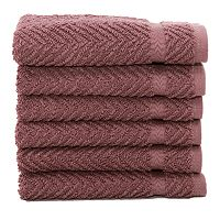 Linum Home Textiles Herringbone 6-pk. Washcloths