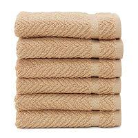 Linum Home Textiles Herringbone 6 pkWashcloths