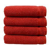 Linum Home Textiles Herringbone 4-pk. Hand Towels