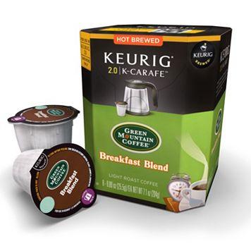 Keurig® K-Carafe™ Pod Green Mountain Coffee Breakfast Blend Light Roast Coffee - 8-pk.