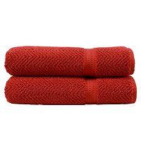 Linum Home Textiles Herringbone 2-pk. Bath Towels