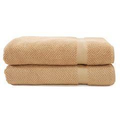 Linum Home Textiles Herringbone 2 pkBath Towels