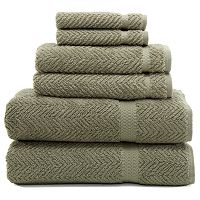 Linum Home Textiles Herringbone 6 pc Bath Towel Set