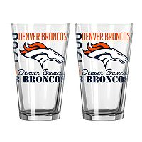 Boelter Brands Denver Broncos 2-Pack Pint Glass Set