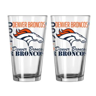 Boelter Brands Denver Broncos 2-Pack Pint Glass Set