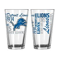 Detroit Lions 2-piece Pint Glass Set